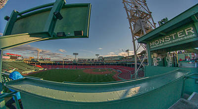 Fenway Park Photograph - A Monster View by Bryan Xavier