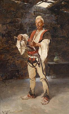 Painting - A Montenegrin  by Rudolf Otto von Ottenfeld