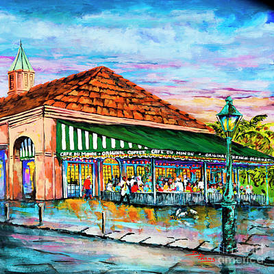 Painting - A Morning At Cafe Du Monde by Dianne Parks