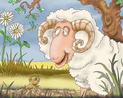 Childrens Books Digital Art - A Morning Hello by Hank Nunes
