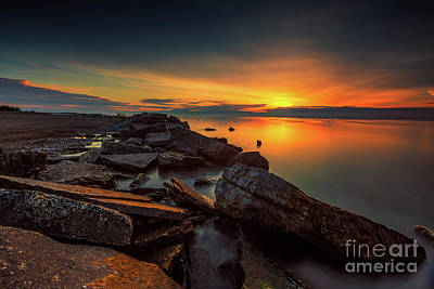 A Morning On The Rocks Art Print