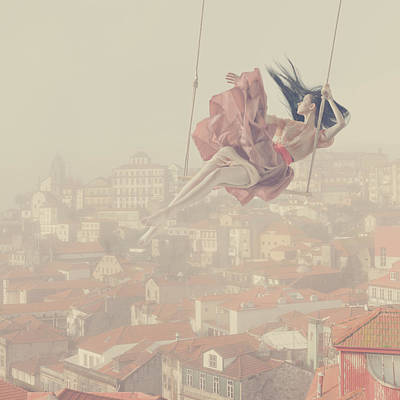 a morning over Oporto Print by Anka Zhuravleva