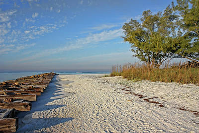 Photograph - A Morning Walk On The Beach by HH Photography of Florida