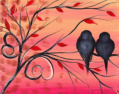 Bird Painting - A Morning With You by  Abril Andrade Griffith