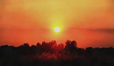 A Mosaic Sunset Art Print by Dan Sproul