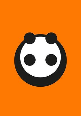 Abstract Shapes Drawing - A Most Minimalist Panda by Nicholas Ely