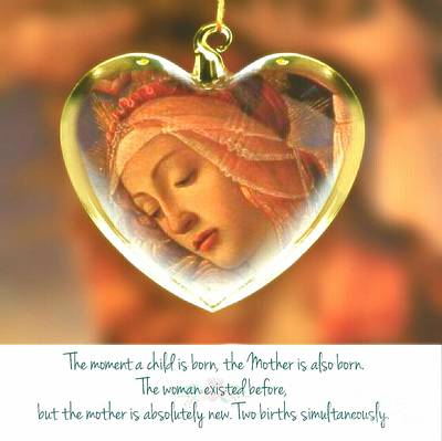 Mother Mary Digital Art - A Mother Is Born by ARTography by Pamela Smale Williams