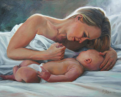 Painting - A Mother's Adoration by Emily Olson