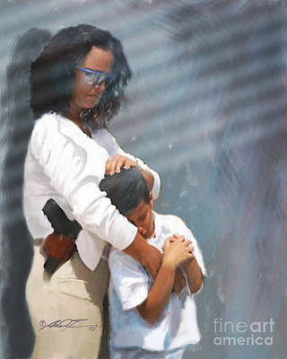 Digital Art - A Mother's Arms by Dale Turner