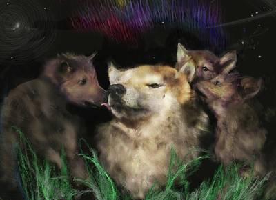 Pups Digital Art - a Mother's Creed by Richard Okun