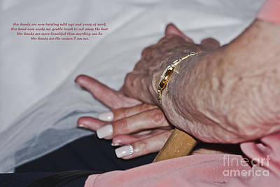 Photograph - A Mother's Hand by Terri Waters
