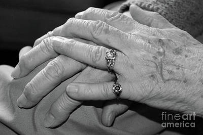 Photograph - A Mother's Hands by Nina Silver