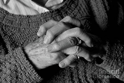 Photograph - A Mother's Hands Remembering by Nina Silver