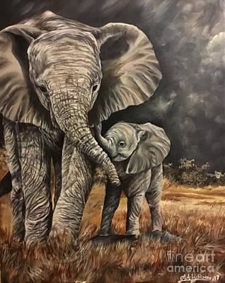 Painting - A Mothers Love by Art By Three Sarah Rebekah Rachel White