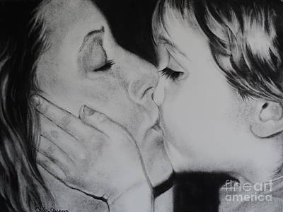 Drawing - A Mothers Love by Carla Carson