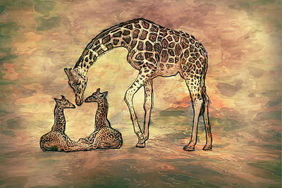 Computer Art Mixed Media - A Mothers Love by Jack Zulli