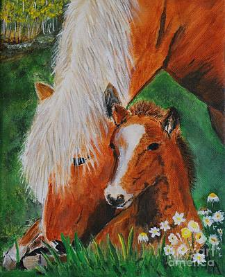 Painting - A Mothers Love by Leslie Allen