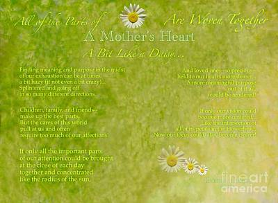 Painting - A Mother's Love Part II The Text by Kimberlee Baxter