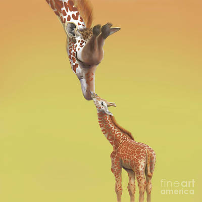 Digital Art - A Mother's Love by Thomas J Herring