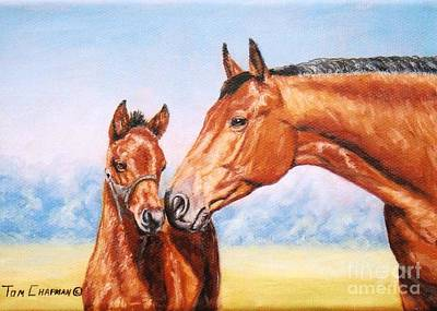 Kentucky Painting - A Mother's Love by Tom Chapman