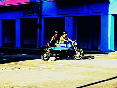 Photograph - A Motorcycle Diary Stop In Havana Cuba  by Funkpix Photo Hunter