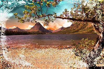 Digital Art - A Mountain Landscape by Rusty R Smith