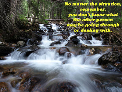 Photograph - A Mountain Stream Situation 2 by DeeLon Merritt