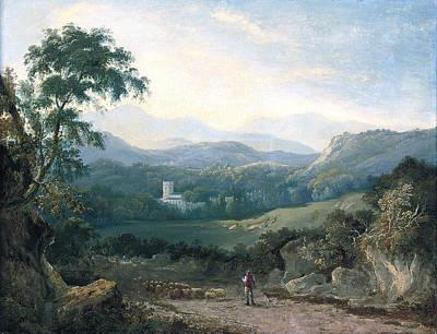 A Mountainous Landscape Art Print by George Barret