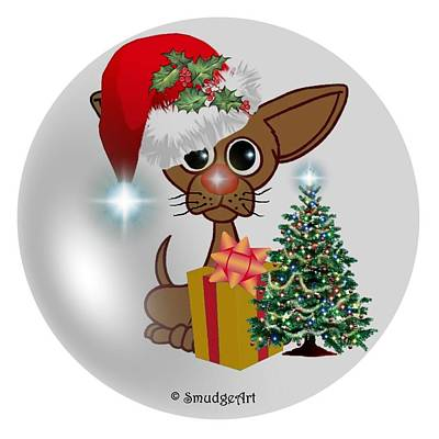 Dog Christmas Card Digital Art - A Mousey Dog's Christmas by Madeline  Allen - SmudgeArt