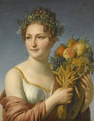 Painting - A Muse Of Plenty by German School