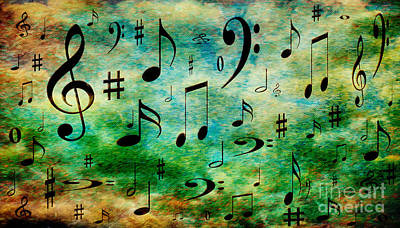 Art Print featuring the digital art A Musical Storm 2 by Andee Design