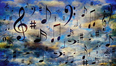 Art Print featuring the digital art A Musical Storm 3 by Andee Design