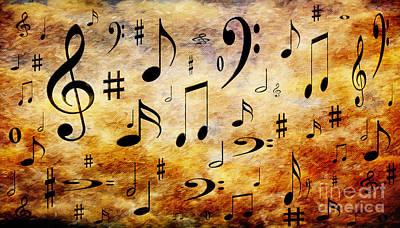Digital Art - A Musical Storm by Andee Design
