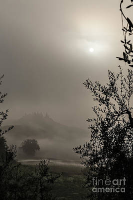 A Mysterious Foggy Morning Art Print