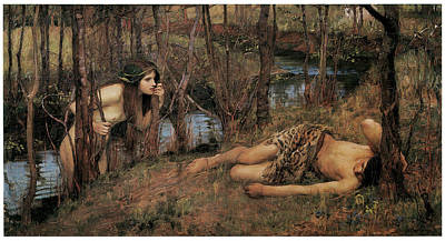 Naiad Painting - A Naiad by John William Waterhouse