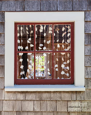 Photograph - A Nantucket Window by Michelle Wiarda-Constantine