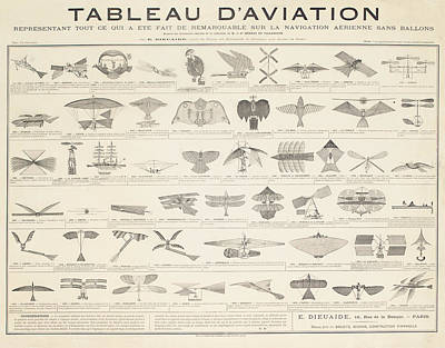 Graphic Drawing - A Navigation Table by French School