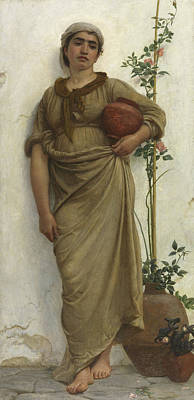 A Neapolitan Flower Seller, 1883  Art Print