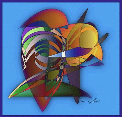 Digital Art - A Nerd Bird by Iris Gelbart