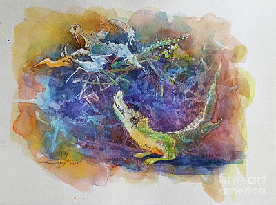 Crocodile Mixed Media - A Nest by GabbyToon Art