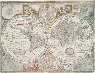 Photograph - A New And Accurat Map Of The World  Drawne According To Ye Truest Descriptions Latest Discoueries  by Lf