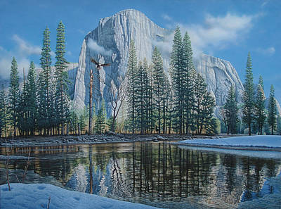 El Capitan Painting - A New Beginning by Eric Wilson