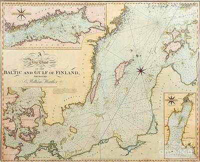 Chart Painting - A New Chart Of The Baltic And Gulf Of Finland by Celestial Images
