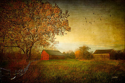 Red Barns Digital Art - A New Dawn by Michael Petrizzo