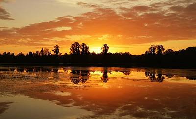 Photograph - A New Day A'rising - Sunrise by rd Erickson