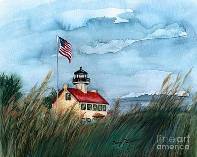 Painting - A New Day At East Point Lighthouse by Nancy Patterson