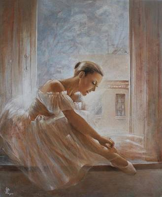 Ballet Dancers On The Stage Painting - A New Day Ballerina Dance by Vali Irina Ciobanu