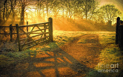 Painting Royalty Free Images - A New Day Royalty-Free Image by Veikko Suikkanen