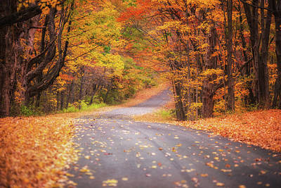 Photograph - A New England Country Road by Kim Carpentier