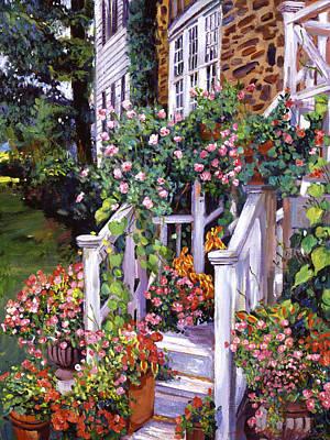 A New England Visit Art Print by David Lloyd Glover